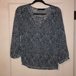 The Limited Blue/White Sheer Blouse Size Medium